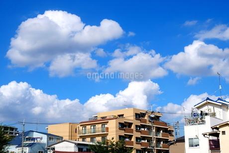 夏雲の街の写真素材 [FYI02987414]