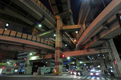 箱崎ジャンクションの夜景の写真素材 [FYI02987575]