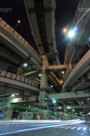 箱崎ジャンクションの夜景の写真素材 [FYI02987576]