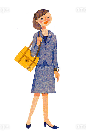 リクルートスーツの女性のイラスト素材 [FYI02987853]