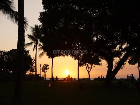 Sunset in Waikikiの写真素材 [FYI02987929]