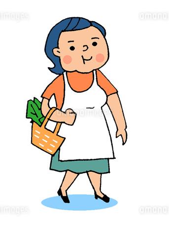 太っている主婦のイラスト素材 [FYI02988214]