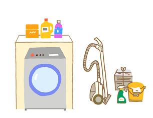 洗濯機と掃除機のイラスト素材 [FYI02988217]