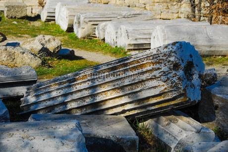 シュリーマンによって発見されたトロイ遺跡(トロイの考古遺跡として世界遺産に選定されるイリオス遺跡) の写真素材 [FYI02988384]