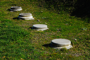 シュリーマンによって発見されたトロイ遺跡(トロイの考古遺跡として世界遺産に選定されるイリオス遺跡)の写真素材 [FYI02988389]