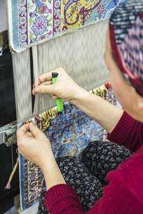 トルコ絨毯手織り風景の写真素材 [FYI02988414]