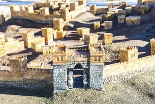 ハットゥシャ遺跡展示模型の写真素材 [FYI02988448]