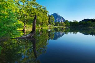 高浪の池と明星山の写真素材 [FYI02988554]