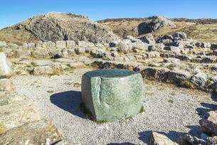 ハットゥシャ遺跡パワースポットのグリーンストーンの写真素材 [FYI02988693]