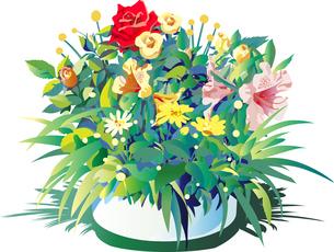 お祝いの花や儀式の花のイラスト素材 [FYI02988709]