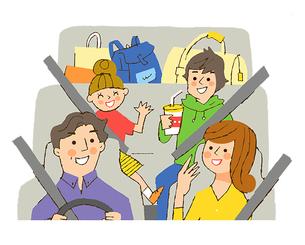 乗用車の車内のイラスト素材 [FYI02988819]
