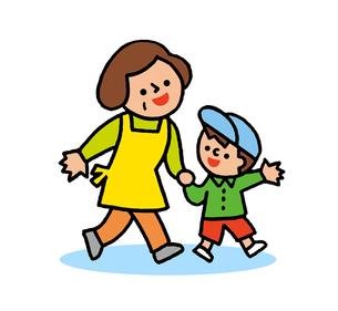 おばあちゃんと孫のイラスト素材 [FYI02988827]