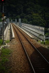 山陰本線の車窓風景(餘部鉄橋)の写真素材 [FYI02988985]