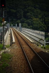 山陰本線の車窓風景(餘部鉄橋)の写真素材 [FYI02988986]