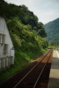 山陰本線の車窓風景(餘部駅)の写真素材 [FYI02988998]