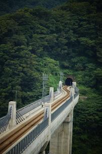 餘部鉄橋の風景の写真素材 [FYI02989026]
