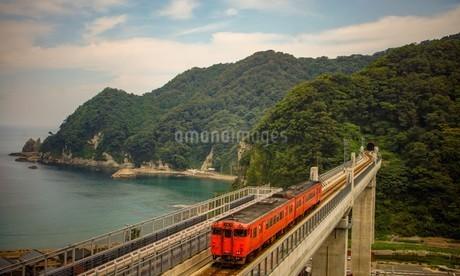餘部鉄橋の風景の写真素材 [FYI02989029]