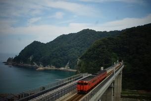 餘部鉄橋の風景の写真素材 [FYI02989030]