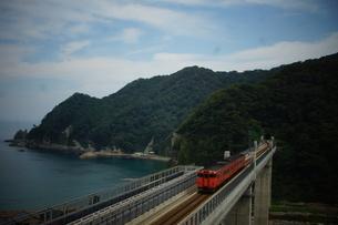 餘部鉄橋の風景の写真素材 [FYI02989031]