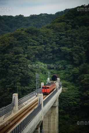 餘部鉄橋の風景(餘部トンネル)の写真素材 [FYI02989034]