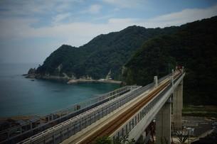 餘部鉄橋の風景の写真素材 [FYI02989036]