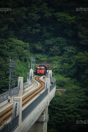 餘部鉄橋の風景(餘部トンネル)の写真素材 [FYI02989038]