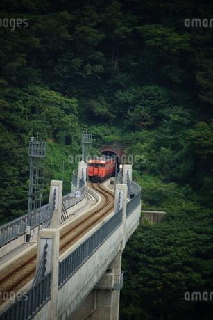 餘部鉄橋の風景(餘部トンネル)の写真素材 [FYI02989039]