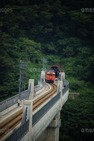 餘部鉄橋の風景(餘部トンネル)の写真素材 [FYI02989040]