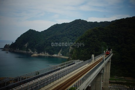 餘部鉄橋の風景の写真素材 [FYI02989041]