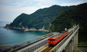 餘部鉄橋の風景の写真素材 [FYI02989046]