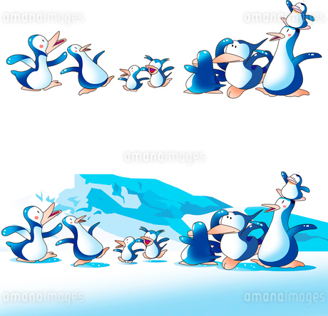 ペンギンと氷山のイラスト素材 [FYI02989051]