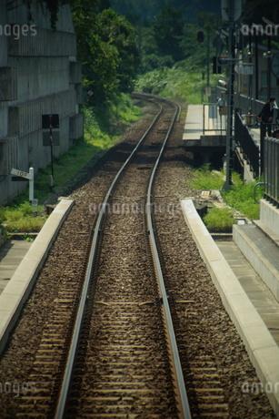 山陰本線の風景(餘部駅)の写真素材 [FYI02989057]