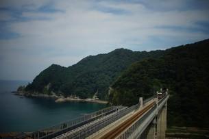 餘部鉄橋の風景の写真素材 [FYI02989062]