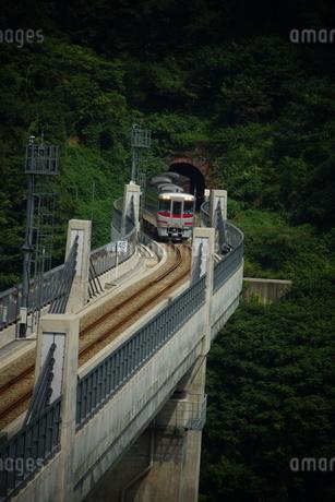 餘部鉄橋の風景(餘部トンネル)の写真素材 [FYI02989063]