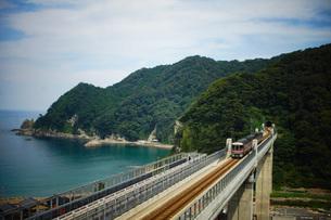餘部鉄橋の風景の写真素材 [FYI02989065]