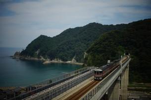 餘部鉄橋の風景の写真素材 [FYI02989066]