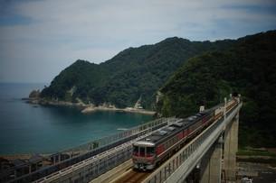 餘部鉄橋の風景の写真素材 [FYI02989069]