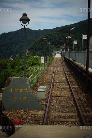 餘部鉄橋の風景(餘部駅)の写真素材 [FYI02989071]