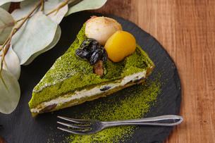 抹茶ケーキの写真素材 [FYI02989179]