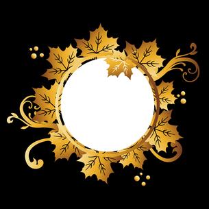 カエデ ゴールド フレームのイラスト素材 [FYI02989252]