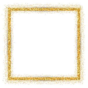 ゴールド ラメ フレームのイラスト素材 [FYI02989402]