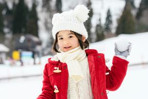 雪山の子供の写真素材 [FYI02989448]