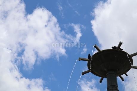 高い空での水浴びの写真素材 [FYI02989479]