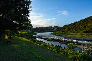 大島河原から見た相模川小倉橋の写真素材 [FYI02989513]