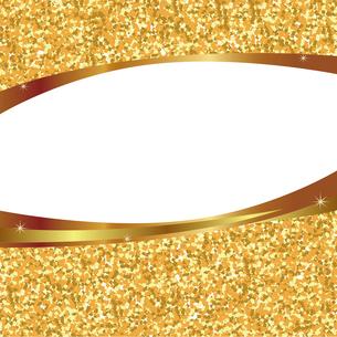 金色 ラメ フレームのイラスト素材 [FYI02989780]