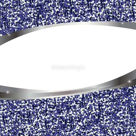 青 ラメ フレームのイラスト素材 [FYI02989787]