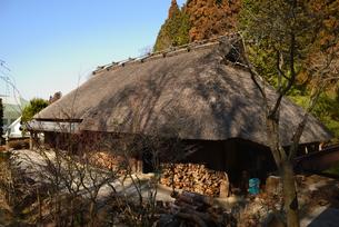 大正村 茅葺の家の写真素材 [FYI02989914]
