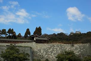 堀之内からの松山城の写真素材 [FYI02990706]