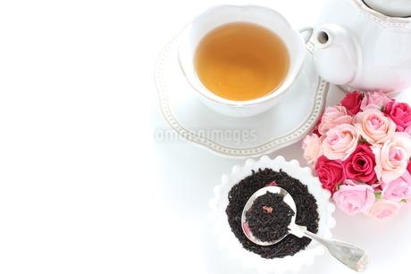 ローズ紅茶リーフの写真素材 [FYI02991259]
