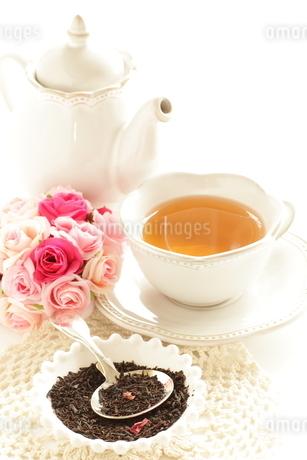 ローズ紅茶リーフの写真素材 [FYI02991281]